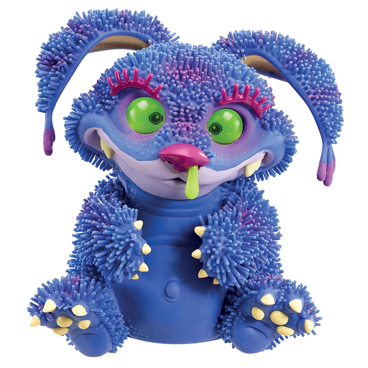 Giochi Preziosi Интерактивная игрушка Монстр Xeno цвет синий1170431_синийАнимированная игрушка Монстр Xeno непременно приведет в восторг вашего малыша. Приятная на ощупь игрушка выполнена в виде очаровательного монстрика с большими пластиковыми глазками. Игрушка замечательно поет и танцует, или может ворчать и поскуливать. Монстрик любит поглаживание лапок, животика, головы и ушей, любит поесть, иногда даже без меры. А еще он может иногда расстроиться и заболеть... Проявляет огромное количество эмоций - 50 разных оттенков можно увидеть в глазах Xeno. По всему телу игрушки расположены датчики, взаимодействуя с которыми, можно заставить Xeno поднимать ушки, покачиваясь, передвигаться на лапах, совершать движения головой, открыть и закрыть рот. Если Xeno будет не один, и рядом поставить других монстриков, они будут общаться на собственном смешном языке, шутить и петь песенки. Xeno наделен собственным приложением для Android, Android. Его загрузку на свой планшет или телефон вы произведете бесплатно. Используя его, вы будете кормить...