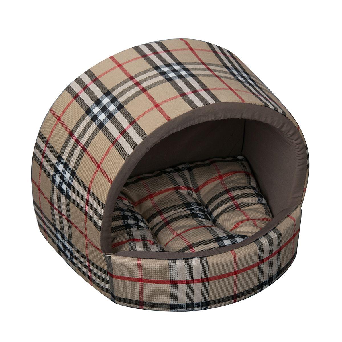 Домик Dogmoda В клетку 34*30*28 смDM-090092-2Уютный домик для животных актуальной расцветки клетка, сдержанный и практичный.