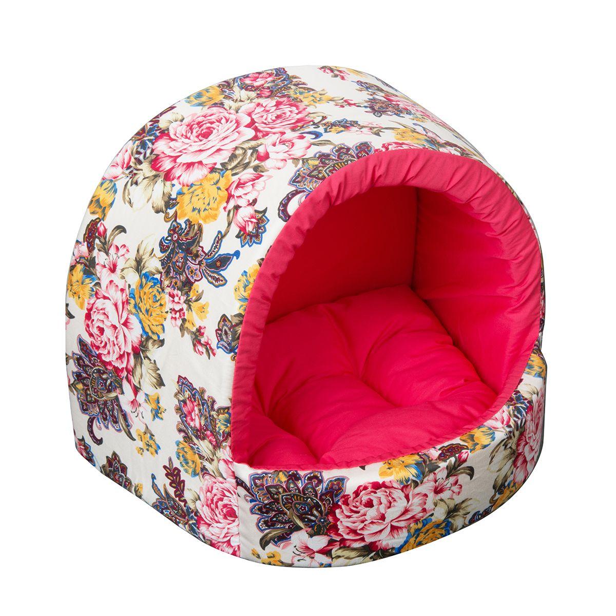 Домик Dogmoda Бутон 29*27*23 смDM-150019-1Модный цветочный дизайн этого уютного домика для животных отразит прекрасный вкус владельца и прекрасно дополнит интерьер.