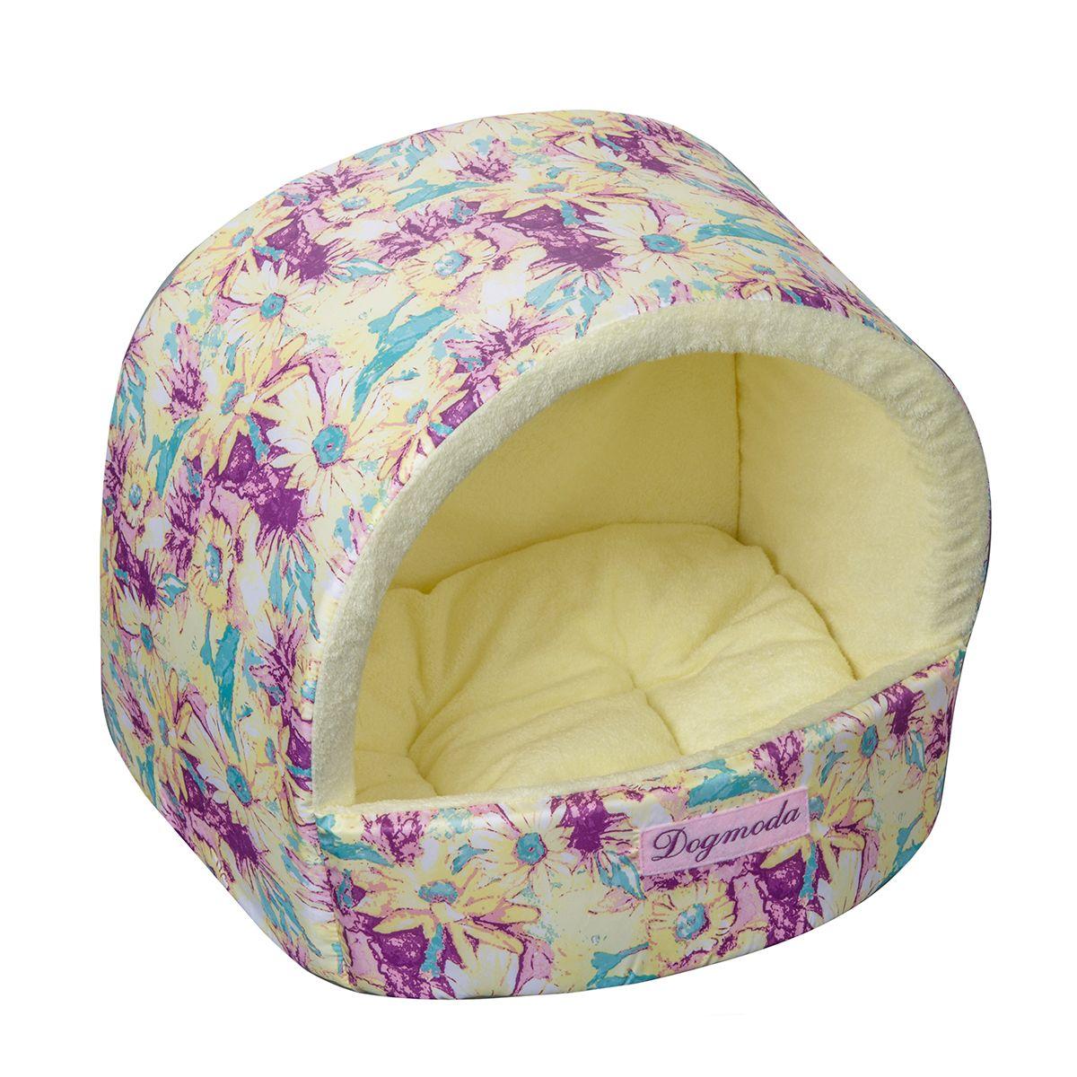 Домик Dogmoda Букет 34*30*28 смDM-150332Яркий солнечный домик для животных. Выполнен из моющейся ткани, внутри нежный искусственный мех.