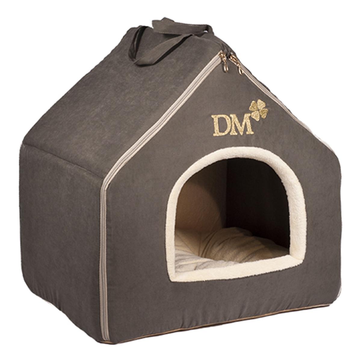 Домик-будка для животных Dogmoda Лофт, цвет: темно-серый, бежевый, 45 х 45 х 37 смDM-150356Домик-будка Dogmoda Лофт непременно станет любимым местом отдыха вашего домашнего животного. Изделие выполнено из высококачественного полиэстера и хлопка. Наполнитель - поролон и холлофайбер. В таком домике вашему любимцу будет мягко и тепло. Он даст вашему питомцу ощущение уюта и уединенности, а также возможность спрятаться. Изделие оснащено съемной мягкой подстилкой. Домик легко разбирается и собирается при помощи застежек-молний. Размер домика: 45 х 45 х 37 см.