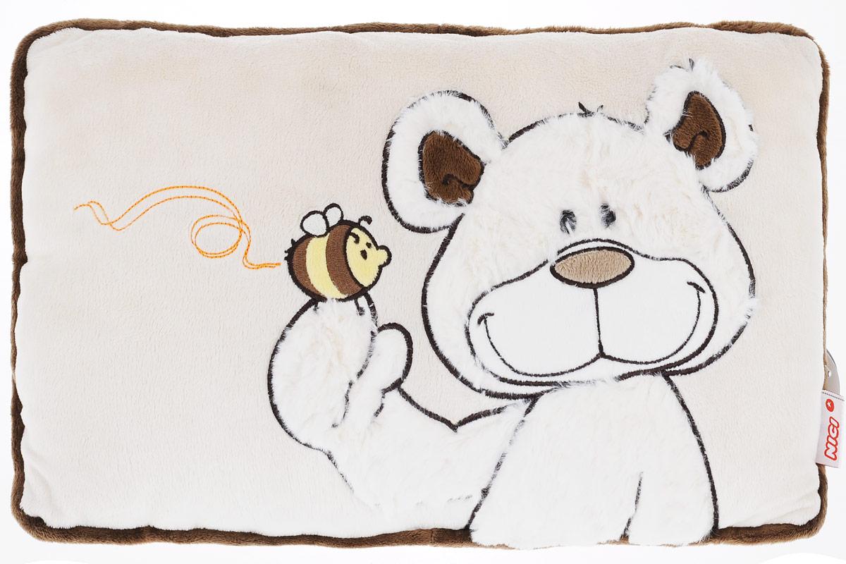 Nici Мягкая игрушка-подушка Медвежонок 40 см36977Мягкая игрушка-подушка Nici Медвежонок не оставит равнодушным вашего ребенка. Мягкая и приятная на ощупь подушка прямоугольной формы выполнена из плюша с мягкой набивкой и оформлена вышитой аппликацией в виде симпатичного медвежонка и контрастной окантовкой. Подушка удивительно приятна на ощупь. Необычайно мягкая, она принесет радость и подарит своему обладателю мгновения нежных объятий и приятных воспоминаний. Такая игрушка-подушка станет отличным аксессуаром для детской комнаты.