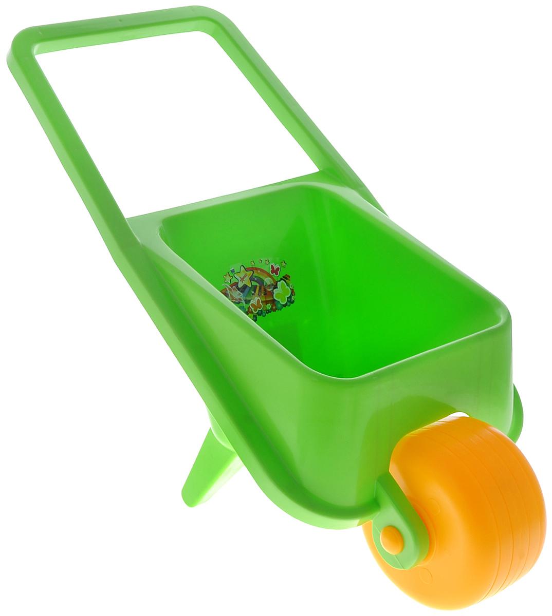 Нордпласт Тачка детская цвет салатовый431726_салатовыйДетская одноколесная тачка Нордпласт, изготовленная из прочного безопасного яркого пластика, привлечет внимание вашего ребенка и поможет приучить его к труду. С этой игрушечной тачкой ваш малыш будет весело проводить время, подражая маме и папе. Производство детских игрушек компании Нордпласт осуществляется по проектам собственной дизайн-студии. К качеству используемых материалов, предъявляются самые высокие требования: как с точки зрения безопасности, так и с точки зрения прочности и устойчивости красителей, ведь эти игрушки предназначены не только для взрослых, но и для самых маленьких детей.