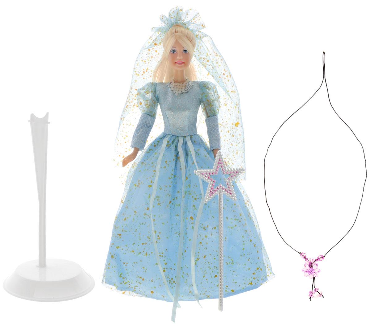 Defa Кукла Lucy Фея цвет одежды голубой20947d_голубойВеликолепная кукла Defa Lucy: Фея непременно понравится вашей малышке и станет ее любимой игрушкой. Кукла с длинными светлыми волосами одета в очаровательное голубое платье с блестками. На голове воздушная голубая фата. Голова, руки и ноги куклы подвижны. В комплекте с куклой идут модные туфли, подставка, а также медальон и волшебная палочка в подарок юной хозяйке куклы. Порадуйте вашу малышку таким замечательным подарком! Высота куклы 29 см.