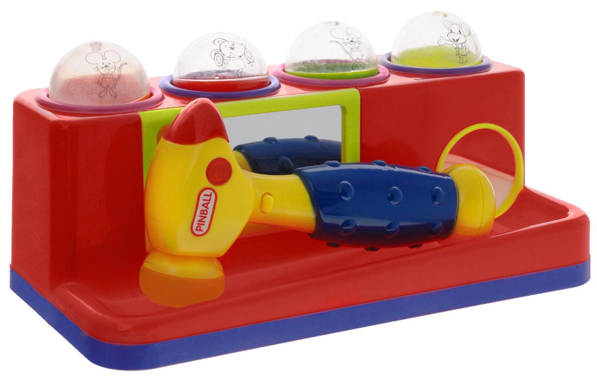 Junfa Toys Игрушка-сортер с молотком цвет красный599_красныйЯркая игрушка-сортер Junfa Toys со звуковыми и световыми эффектами обязательно понравится малышу и доставит ему много удовольствия. Игрушка выполнена из прочного безопасного пластика. Задачей ребенка является опустить шарик в отверстие, ударяя по нему молоточком, при этом будут раздаваться различные звуки и загораться огоньки. Благодаря склону на сортере шарики будут сами выкатываться. В комплект входит молоточек и 4 шарика, на которых изображены веселые мышки. Занятия с такой игрушкой помогут малышу развить цветовое и звуковое восприятия, воображение. Для работы игрушки необходимы 2 батарейки напряжением 1,5V типа АА (не входят в комплект).