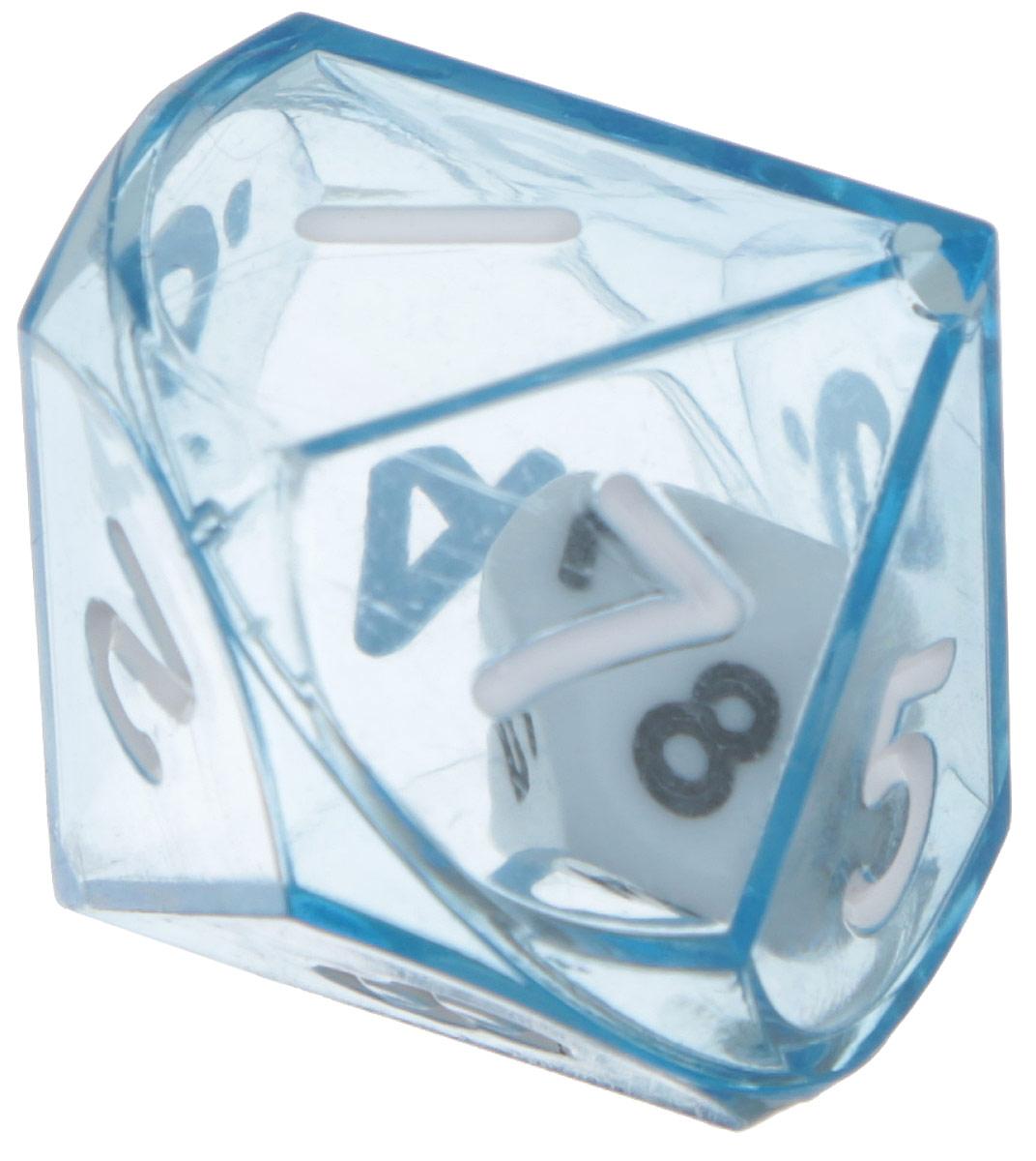Koplow Games Кость игральная Идеальный процентник D10 цвет синий12596_синийИгральная кость Идеальный процентник состоит из прозрачной кости D10 с такой же костью внутри. На каждую грань кости нанесены числа от 1 до 10. При броске на двух кубиках D10 выбрасываются два значения, одно из которых принимается за десяток, другое за единичное значение. Игральная кость выполнены из прочного пластика. Не рекомендуется детям до 3-х лет.