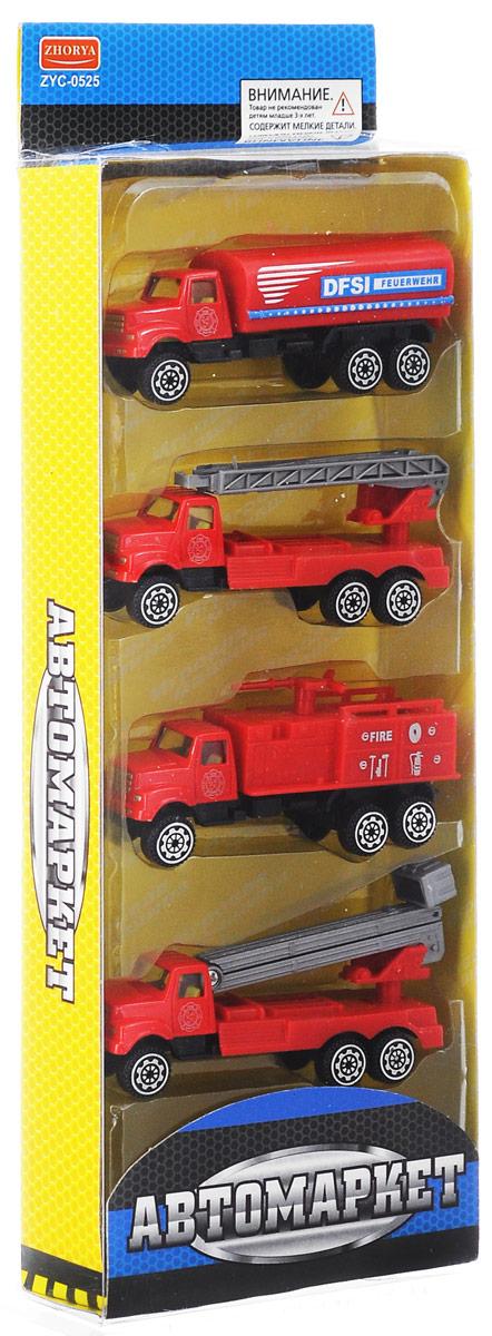 Zhorya Набор машинок Пожарная техника Х 75141
