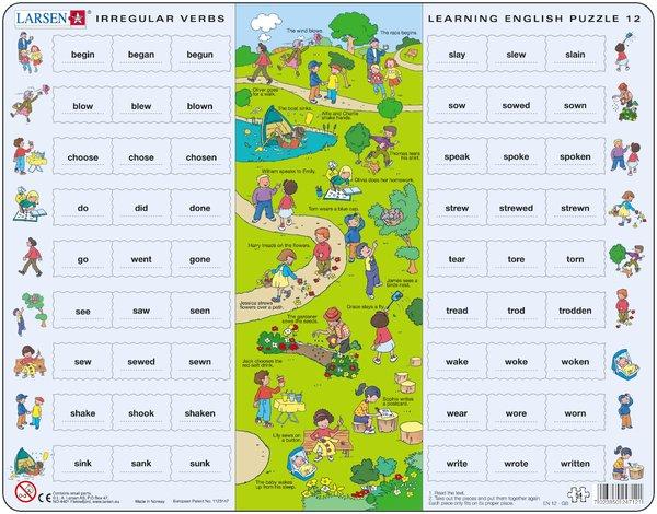 Larsen Пазл Английский язык 12EN12Пазлы Ларсен направлены, прежде всего, на обучение. Пазл Larsen Английский язык 12 предназначен для детей, изучающих английский язык. В центре пазла изображен сюжет, где каждый предмет подписан (по-английски). Вокруг этого сюжета детям необходимо правильно расположить отдельные предметы. Выполненные из высококачественного трехслойного картона, пазлы не деформируются и легко берутся в руки. Все пазлы снабжены специальной подложкой, благодаря чему их удобно собирать. Размер готового пазла: 36,5 см х 28,5 см.