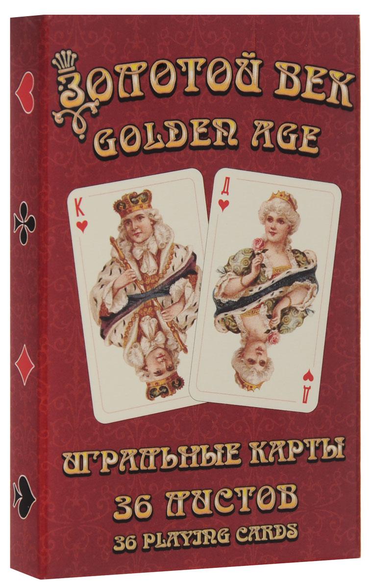 Карты игральные Piatnik Золотой век, цвет: красный, 36 карт9178_красныйИгральные карты Piatnik Золотой век выполнены из картона, имеют гладкую поверхность и подходят для многих карточных игр. В комплекте 36 карт.
