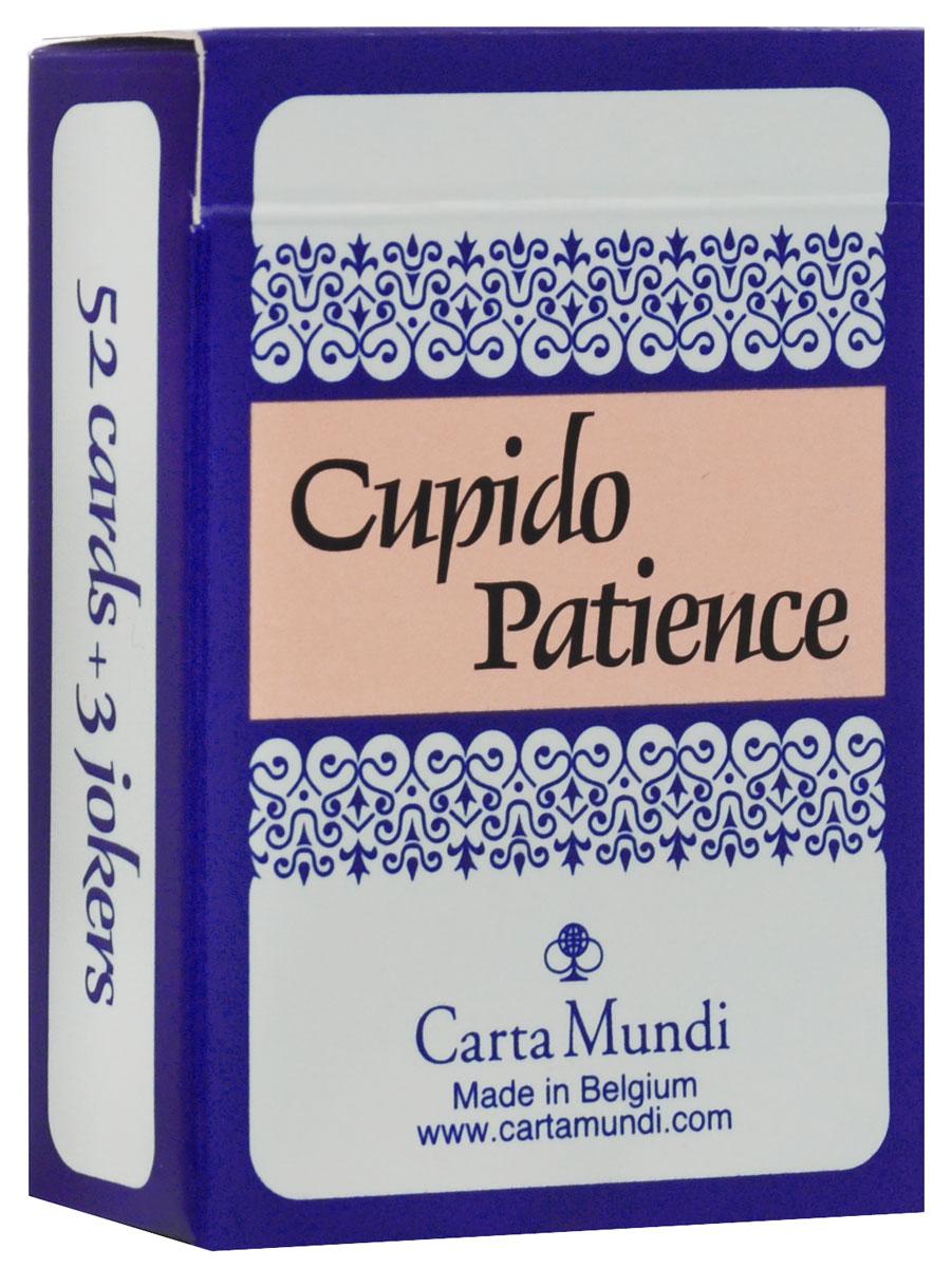 Карты для пасьянса Carta Mundi Cupido Patience, цвет: синий, 55 карт106621465_синийПасьянсные карты Carta Mundi Cupido Patience идеально подойдут для любителей раскладывать пасьянсы. В основу оформления рубашки колоды положены изображение купидонов. Колода включает в себя 52 карты и 3 Джокера. Карты имеют гладкую поверхность, благодаря покрытию из пластика.