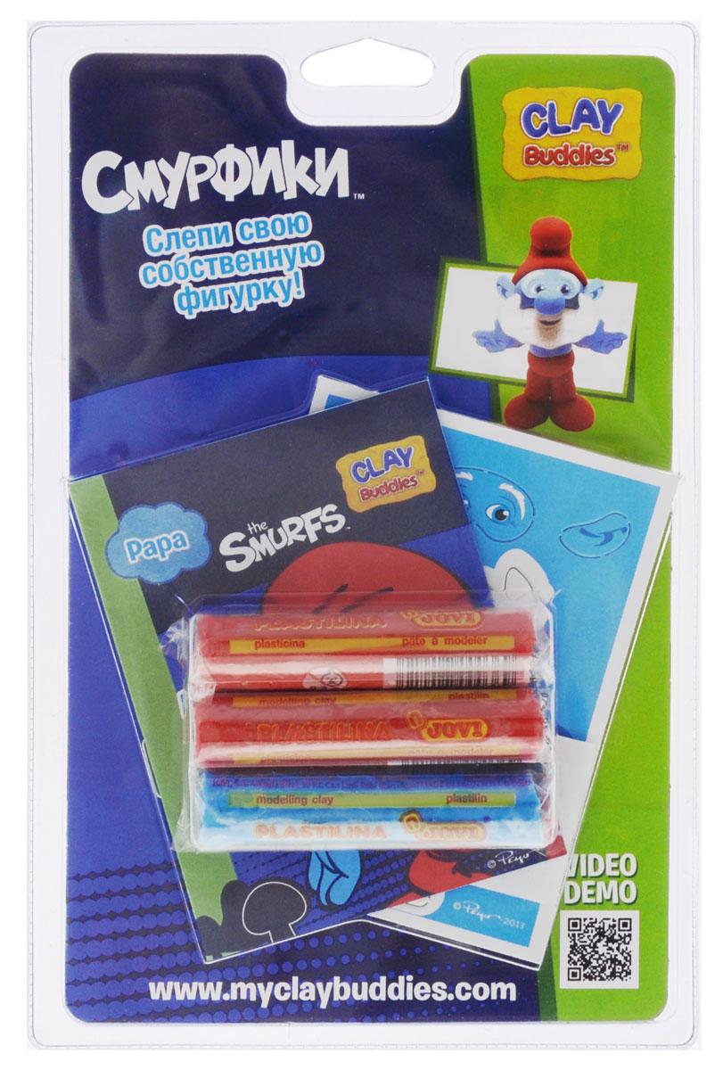 Giromax Набор для лепки Смурфики Papa307632 PapaНабор для лепки Giromax Смурфики: Papa представляет собой сочетание моделирования и игры. Набор включает в себя: 3 кусочка пластилина (голубой, красный), карточку с картонными деталями, 1 лист липучек, иллюстрированную книжку с инструкциями и заданиями. Входящая в набор пластилиновая масса разработана специально для детей, очень мягкая, приятно пахнет, ее не надо разминать перед лепкой. Пластилин быстро высыхает, не имеет запаха, не липнет к рукам и одежде, легко смывается. Используя пластилин и картонные формочки, малыш сможет самостоятельно вылепить фигурку любимого героя - Папы-смурфа. Работа с пластилином развивает мелкую моторику пальцев малыша, пространственное воображение, фантазию.