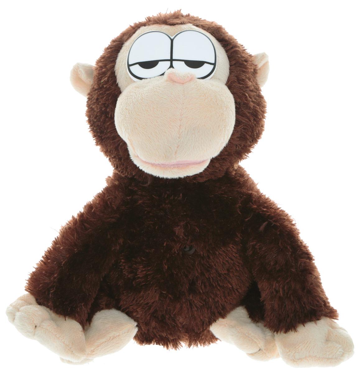 Chericole Интерактивная мягкая игрушка Говорящая обезьянкаCTC-CB-818Интерактивная мягкая игрушка Chericole Говорящая обезьянка привлечет внимание вашего ребенка и не оставит его равнодушным! Мягкая говорящая игрушка в виде очаровательной обезьянки насмешит своего обладателя, она будет весело повторять за вами каждое слово забавным тонким голосом. Поставьте выключатель, который находится на коробке с батарейками, в позицию ON. Датчик света активирует игрушку. Как только датчик зафиксирует любые изменения света в области перед игрушкой, она скажет Хэллоу!. Данную фразу произнесет только один раз, после чего перейдет в режим прослушал/повторил. Поговорите с игрушкой около 6 секунд, после чего она повторит все услышанное своим смешным голосом. Если в течение двух минут игрушка не услышит ни разговоров, ни других звуков, то она уснет, произведя один храпящий звук. Если после этого кто-то пройдет мимо или посветит на игрушку, то световой сенсор разбудит. Ваш ребенок будет в восторге от такого подарка! Необходимо ...