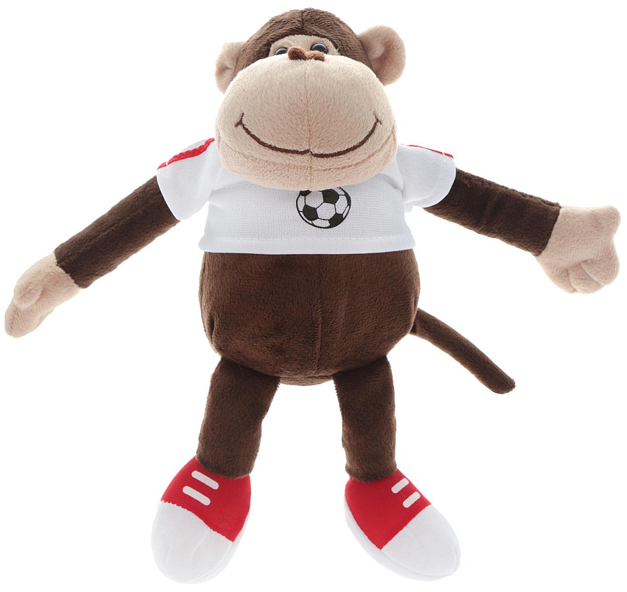 Gulliver Мягкая игрушка Обезьянка Пепе 15 см52-V41887-15CМягкая игрушка Gulliver Обезьянка Пепе принесет радость и подарит своему обладателю мгновения нежных объятий и приятных воспоминаний. Игрушка очень похожа на своего живого прототипа. Забавная обезьянка любит заниматься спортом, поэтому она одета в спортивную кофточку, а на лапках у нее спортивные кеды. На мордочке обезьянки милая, добродушная улыбка. Глаза выполнены из пластика, мордочка обезьянки имеет уплотненную форму, что придает ей естественный вид. Игрушка изготовлена из экологически чистых материалов. Небольшие размеры игрушки позволяют брать ее на прогулку и в гости, поэтому малышу больше не придется расставаться со своим новым другом.