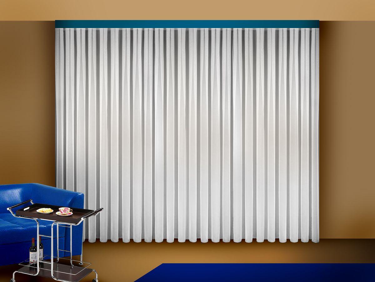 Тюль Zlata Korunka, на ленте, цвет: белый, высота 250 см. 5556155561Тюль Zlata Korunka изготовлен из легкой вуалевой ткани (100% полиэстера) и великолепно украсит любое окно. Воздушная ткань и белоснежный цвет привлекут к себе внимание и органично впишутся в интерьер помещения. Полиэстер - вид ткани, состоящий из полиэфирных волокон. Ткани из полиэстера легкие, прочные и износостойкие. Такие изделия не требуют специального ухода, не пылятся и почти не мнутся. Крепление к карнизу осуществляется с использованием ленты-тесьмы. Такой тюль идеально оформит интерьер любого помещения. Рекомендации по уходу: - ручная стирка, - можно гладить, - нельзя отбеливать.
