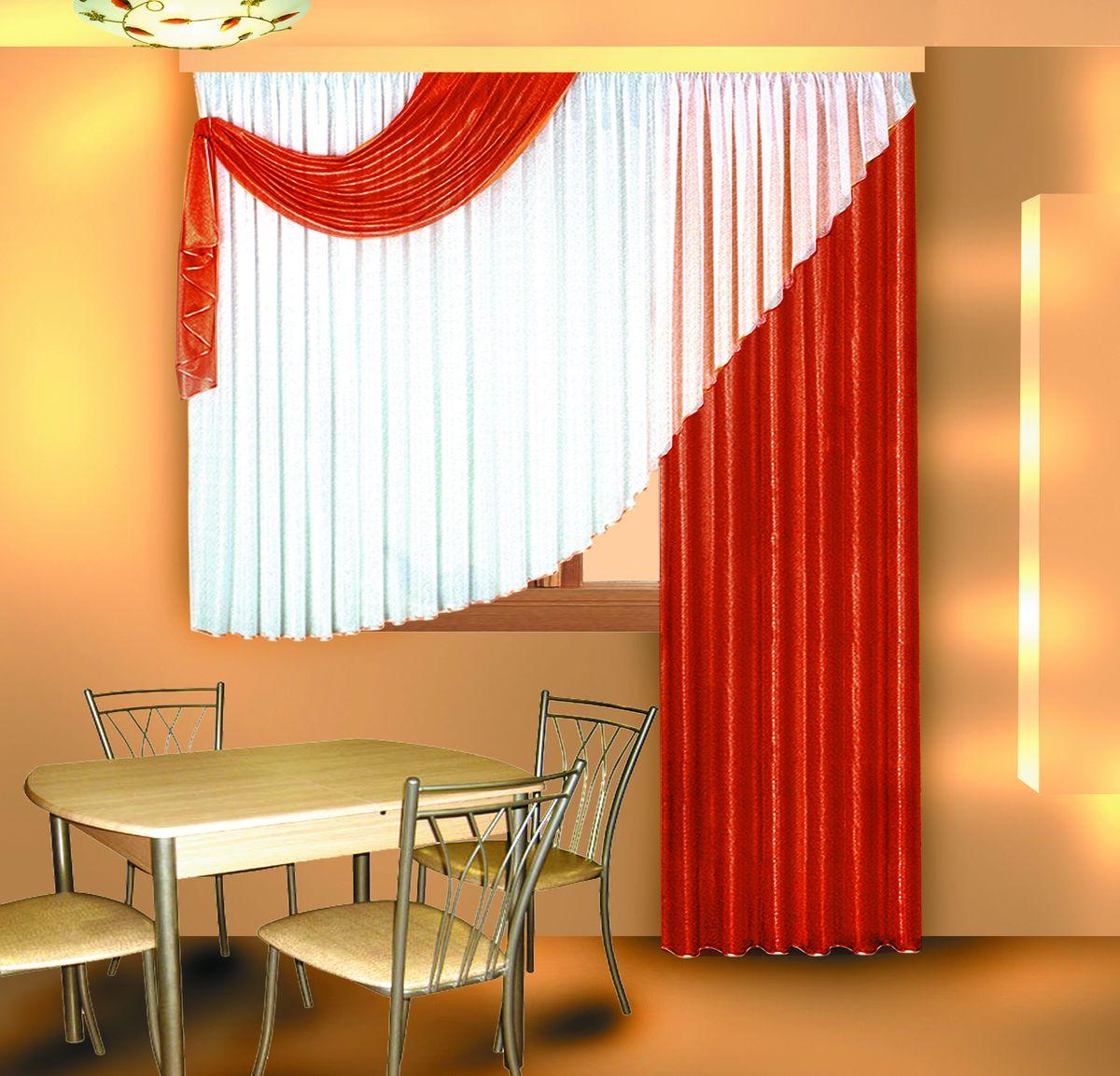 Комплект штор Zlata Korunka. 5558155581Комплект штор на шторной ленте