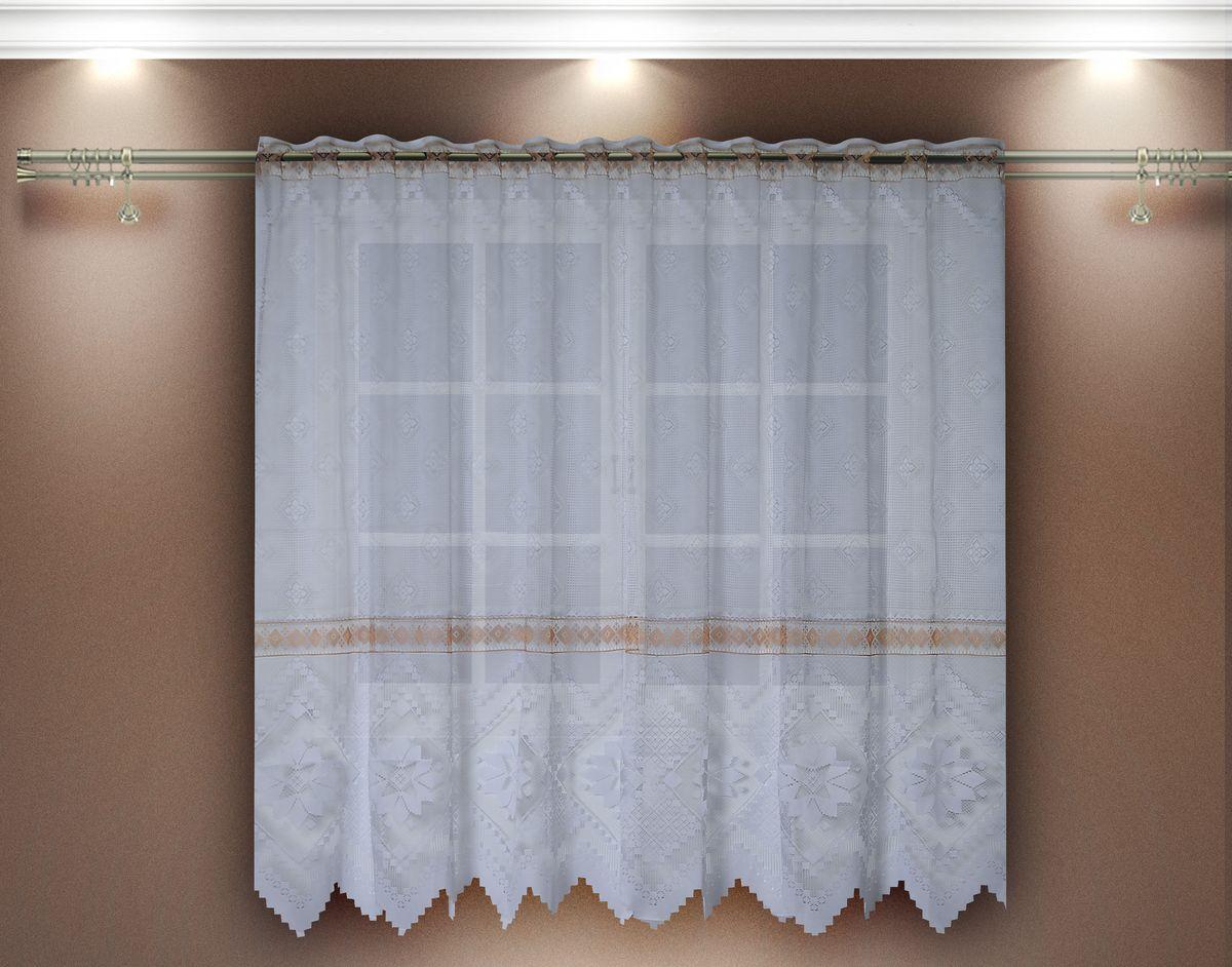 Гардина Zlata Korunka. 8883988839Гардина из тюле-кружевного полотна, крепление на зажимах для штор.