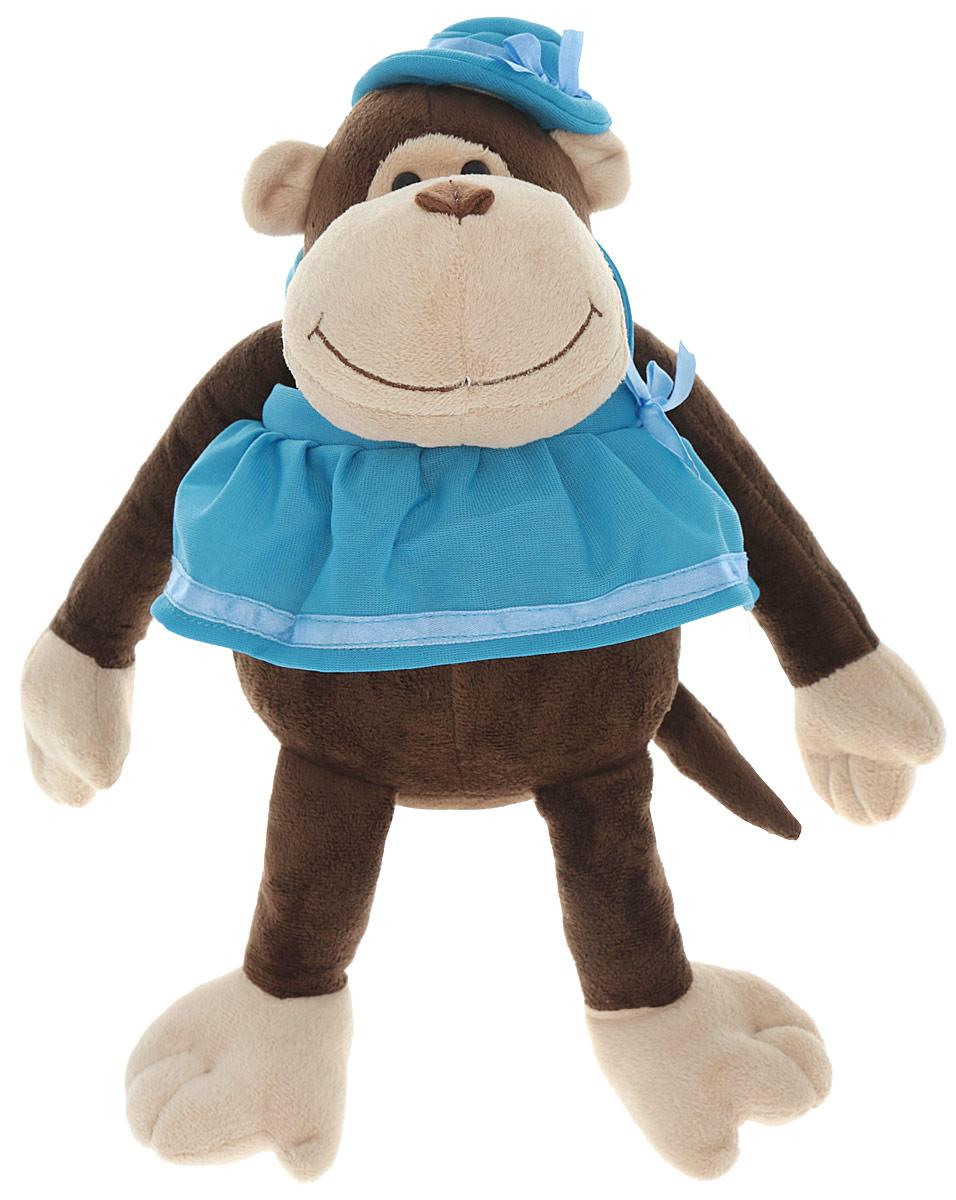Gulliver Мягкая игрушка Обезьянка Чита 21 см52-V41886-21BМягкая игрушка Gulliver Обезьянка Чита порадует своим внешним видом и взрослого и ребенка. Изготовлена из качественных и безопасных материалов. Милая обезьянка одета в сарафан василькового цвета, а ее голову украшает элегантная шляпка. Форма игрушки позволяет ей устойчиво сидеть, что обеспечивает удобство для игры ребенка. Глаза выполнены из пластика, мордочка обезьянки имеет уплотненную форму, что придает ей естественный вид. Это чудесная обезьянка сможет стать отличным подарком для детей и взрослых. Малышам особенно приятно будет заполучить столь очаровательную игрушку.