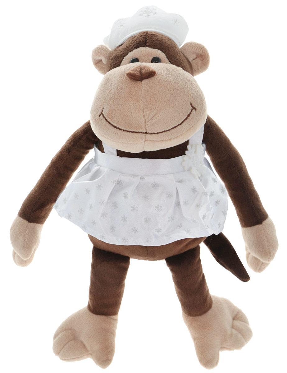 Gulliver Мягкая игрушка Обезьянка Снегурочка 21 см52-V41886-21AМягкая игрушка Gulliver Обезьянка Снегурочка станет отличным подарком к новому 2016 году. Изготовлена из экологически чистых материалов. Игрушка порадует вас свои нарядным костюмом. Обезьянка одета в красивый сарафан белого цвета и такого же цвета кокошник. На мордочке обезьянки милая улыбка и черные глазки - бусинки. Плюшевый зверек украсит детскую комнату и станет радовать ребенка каждый день. Мягкая игрушка наполнит мир вашего малыша приятными ощущениями и положительными эмоциями. Способствует развитию воображения и тактильной чувствительности у детей. Порадуйте своего ребенка такой милой игрушкой!