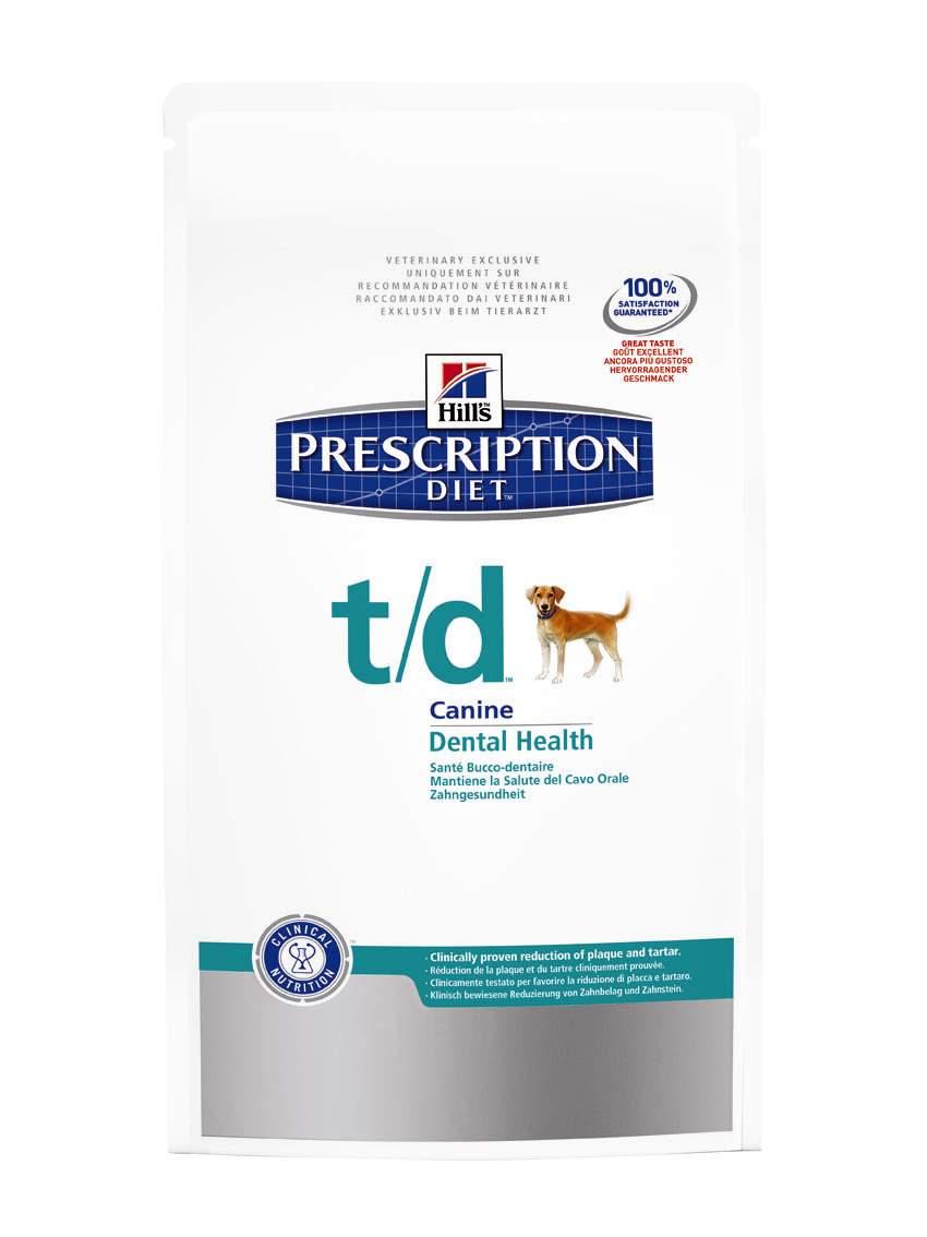 Сухой корм для собак Hills Prescription Diet t/d Canine Dental Health диета для лечения заболеваний полости рта 3кг, пакет4023Осуществляя покупку, я подтверждаю, что осведомлен о необходимости получения рекомендации ветеринарного специалиста не реже, чем раз в 6 месяцев для применения данного рациона. Рекомендуется • Препятствует отложению зубного налета, зубного камня и потемнению эмали. • При неприятном запахе из пасти. • Для собак, предрасположенных к развитию гингивита. Не рекомендуется • Кошкам. • Щенкам. • Беременным и кормящим сукам. • Собакам с заболеваниями периодонта тяжелои? степени без соответствующего наблюдения врача и лечения. Ингредиенты сухого рациона Молотая кукуруза, молотыи? рис, мука из мяса домашнеи? птицы, порошок целлюлозы, животныи? жир, мука из гороховых отрубеи?, гидролизат белка, сухое цельное яи?цо, растительное масло, калия цитрат, кальция сульфат, соль, кальция карбонат, таурин, L-триптофан, витамины и микроэлементы. Содержит одобренныи? ЕС антиоксидант. СРЕДНЕЕ СОДЕРЖАНИЕ НУТРИЕНТОВ В рационе Протеин 15,5 % Жиры 14,8 % Углеводы (БЭВ) 48,7 % Клетчатка (общая) 9,4 %...
