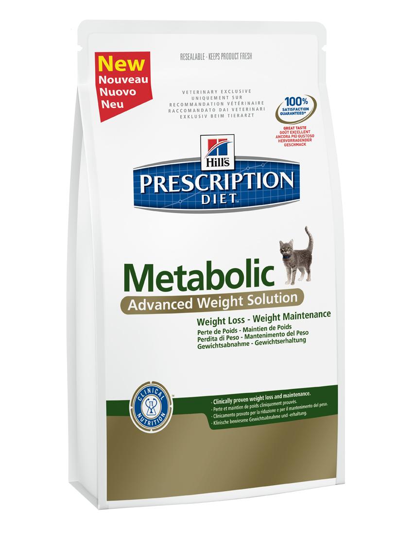 Сухой корм для кошек Hills Prescription Diet Metabolic Feline Advanced Weight Solution диета для коррекции веса 1,5кг, пакет