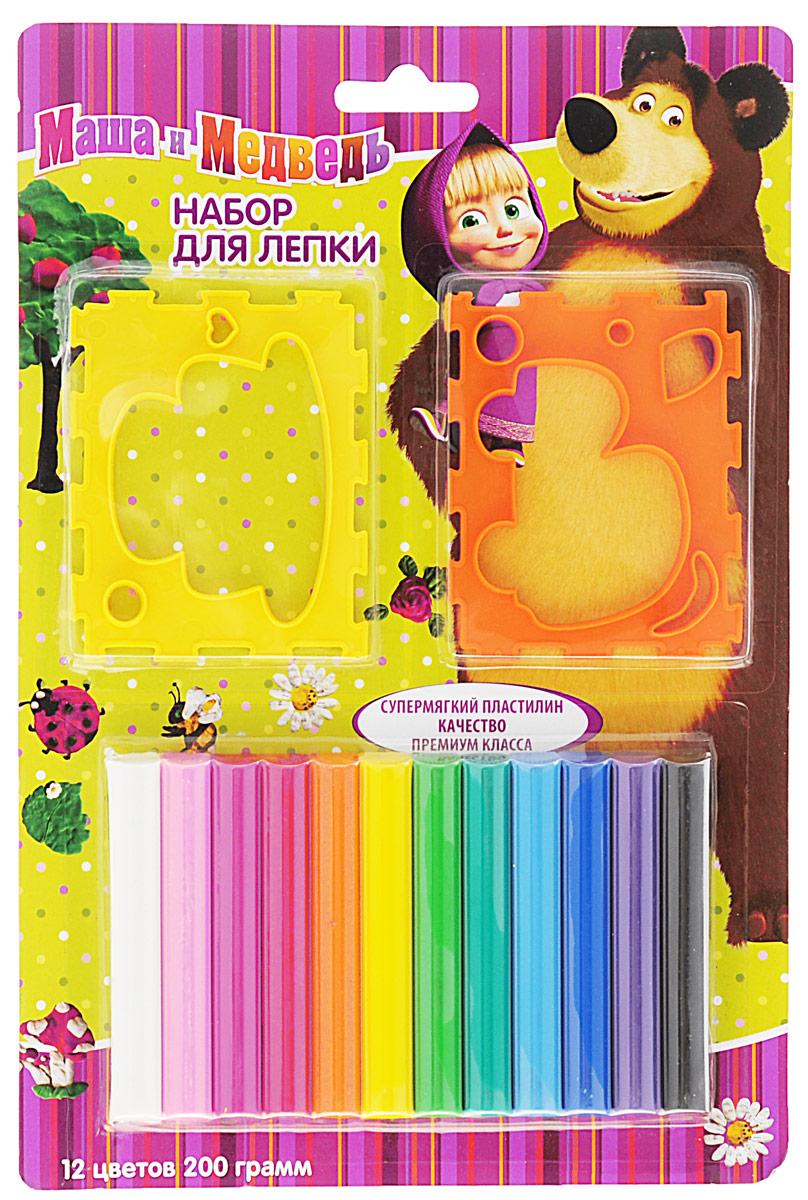 ФОТО Маша и Медведь Набор для лепки 12 цветов