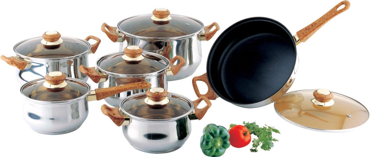 "Набор посуды Bekker ""Classic"", с крышками, 12 предметов. BK-226"