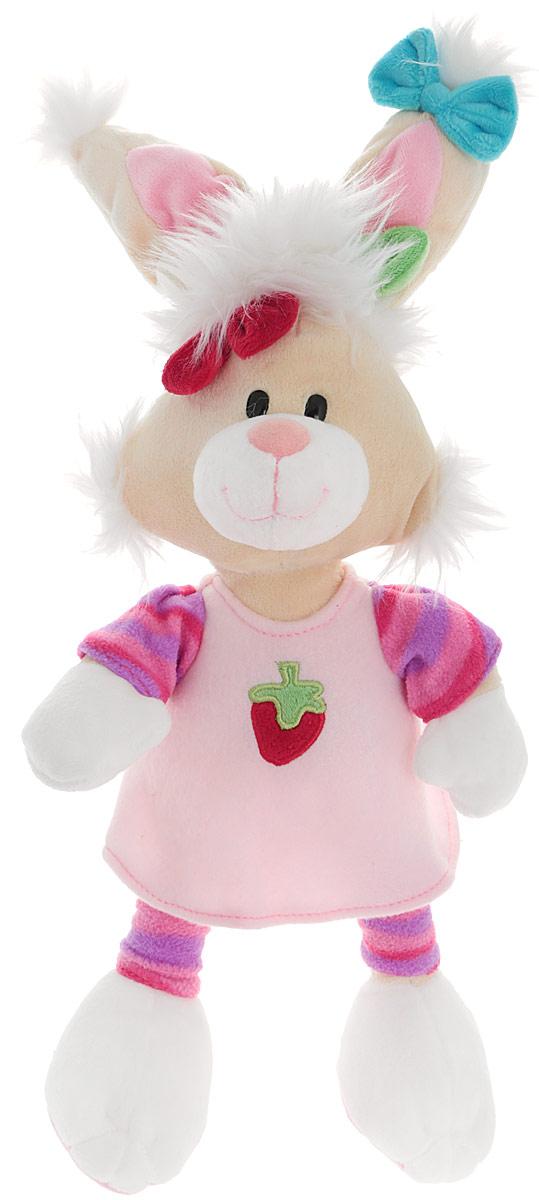 Plush Apple Мягкая игрушка Кролик в розовом платье 46 смK96160A,B,C_розовыйОчаровательная и яркая мягкая игрушка Plush Apple Кролик в платье обязательно вызовет улыбку у детей и взрослых. Игрушка изготовлена из высококачественного текстильного материала в виде забавного кролика в розовом платье. Удивительно мягкая игрушка принесет радость и подарит своему обладателю мгновения нежных объятий и приятных воспоминаний. Небольшие размеры игрушки позволяют брать ее на прогулку и в гости, поэтому малышу больше не придется расставаться со своим новым другом. Специальные гранулы, используемые при ее набивке, способствуют развитию мелкой моторики рук малыша.