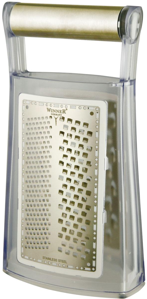 Терка WR-7412WR-741213*6,5*24см, стенки 0,25мм, ручка пластм., многофункц. 2 в 1. Состав: нержав. сталь.