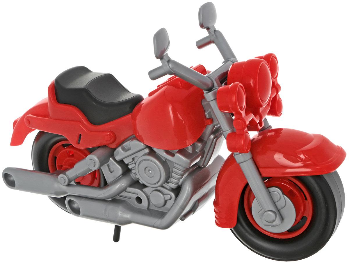 Полесье Гоночный мотоцикл Кросс цвет красный6232_красныйЯркий гоночный мотоцикл Кросс привлечет внимание вашего малыша и не позволит ему скучать, ведь так интересно и захватывающе покатать свой спортивный мотоцикл, или устроить гонку с другом. Колеса мотоцикла крутятся, а руль может поворачиваться. Порадуйте своего непоседу такой замечательной игрушкой!