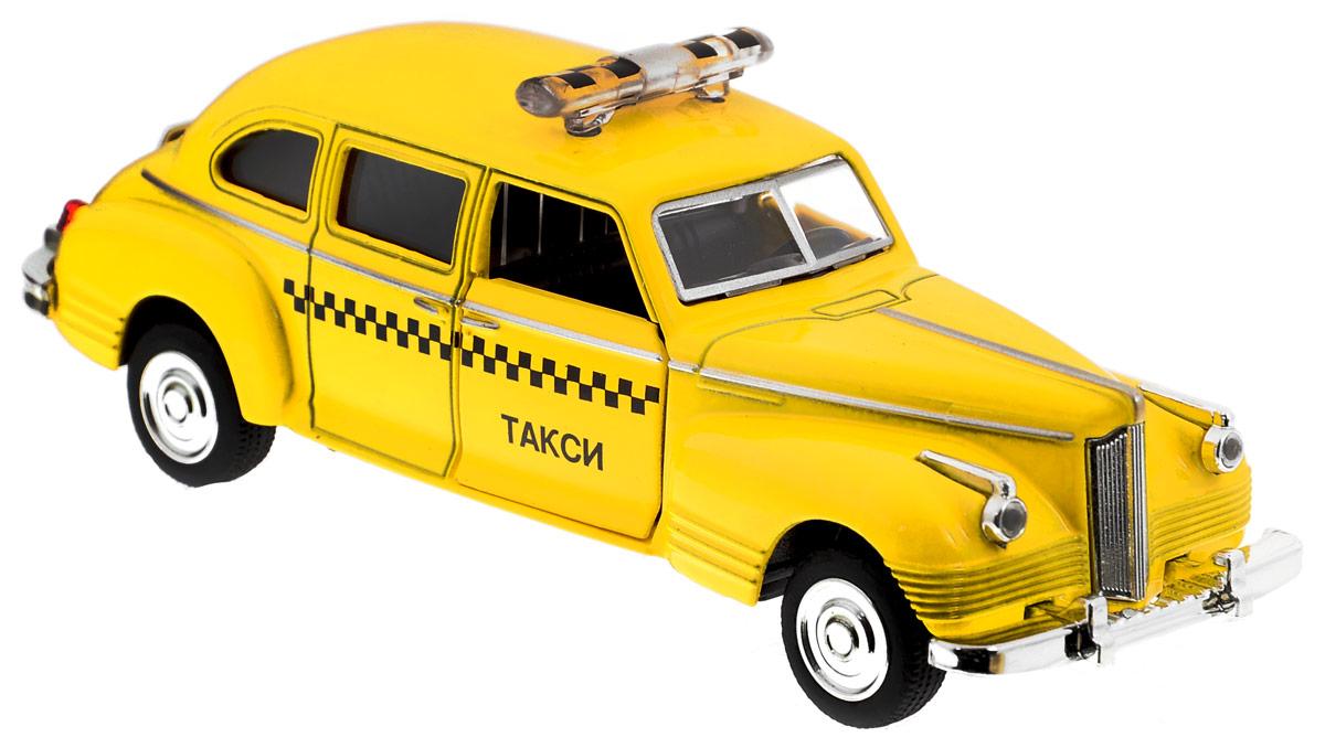 Play Smart Машинка инерционная ЗИС-110 ТаксиР41143Инерционная машинка Play Smart ЗИС-110 Такси, выполненная из высококачественного металла и пластика, непременно понравится и ребенку, и взрослому. Модель является точной уменьшенной копией известного автомобиля ЗИС-110 Такси. Игрушечная модель оснащена литым металлическим корпусом, вращающимися колесами из резины. Передние двери открываются, салон детализирован. Игрушка оснащена инерционным ходом. Для того, чтобы автомобиль поехал вперед, необходимо его отвести назад, а затем отпустить. Прорезиненные колеса обеспечивают надежное сцепление с любой поверхностью пола. Машинка является отличным подарком для каждого ребенка. Во время игры с такой машинкой у ребенка развивается мелкая моторика рук, фантазия и воображение.