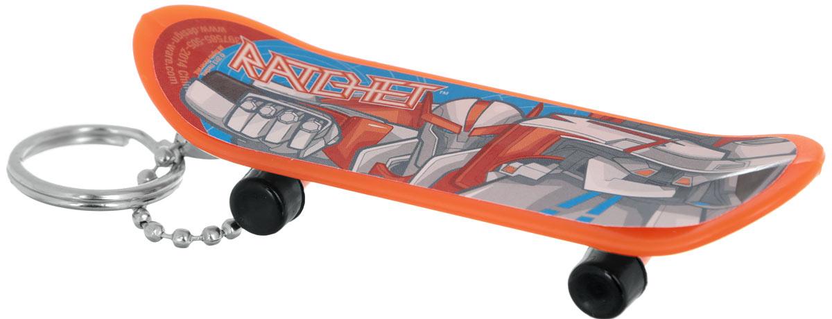 Amscan Брелок Скейтборд Трансформеры Ratchet1507-0894_оранжевыйБрелок Amscan Скейтборд Трансформеры: Ratchet для рюкзака или ключа станет отличным подарком для всех поклонников Трансформеров! Брелок выполнен в форме скейтборда и украшен изображением одного из героев вселенной Трансформеров. Колесики брелока-скейтборда крутятся. Длина брелока: 8 см.
