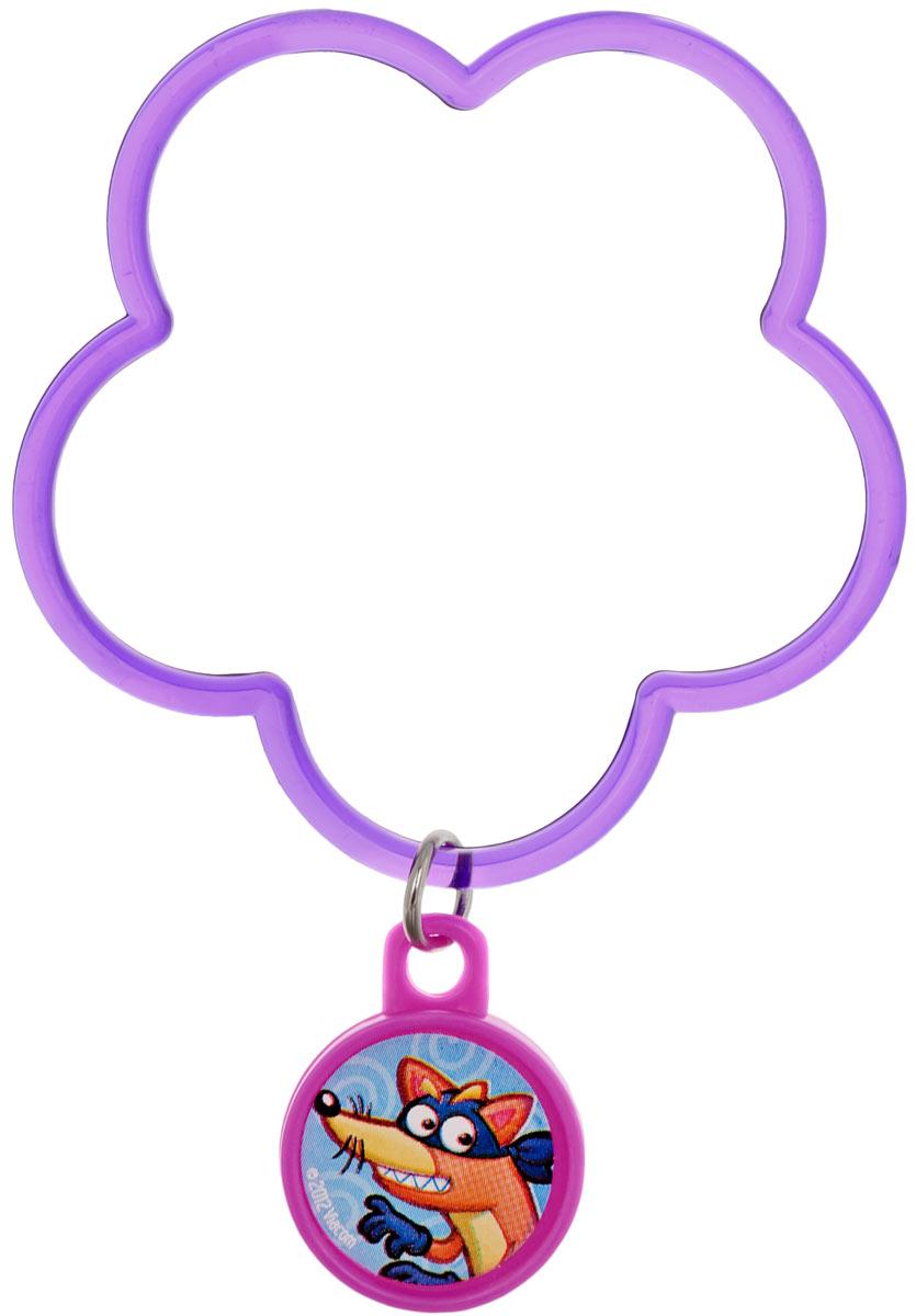 Веселая затея Браслет с подвеской Даша-путешественница цвет фиолетовый1501-2346_фиолетовыйЯркий браслет с подвеской Веселая затея Даша-путешественница выполнен из пластика фиолетового цвета в виде цветочка с подвеской, на которой изображен один из героев мультфильма Даша-путешественница. Этот аксессуар непременно понравится вашей маленькой моднице. Порадуйте ее таким замечательным подарком!