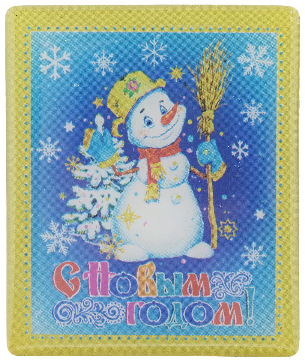 Магнит Феникс-Презент Снеговик, 5 x 6 см34844Магнит прямоугольной формы Феникс-Презент Снеговик, выполненный из агломерированного феррита, станет приятным штрихом в повседневной жизни. Оригинальный магнит, декорированный изображением снеговика и надписи С Новым Годом!, поможет вам украсить не только холодильник, но и любую другую магнитную поверхность. Материал: агломерированный феррит.
