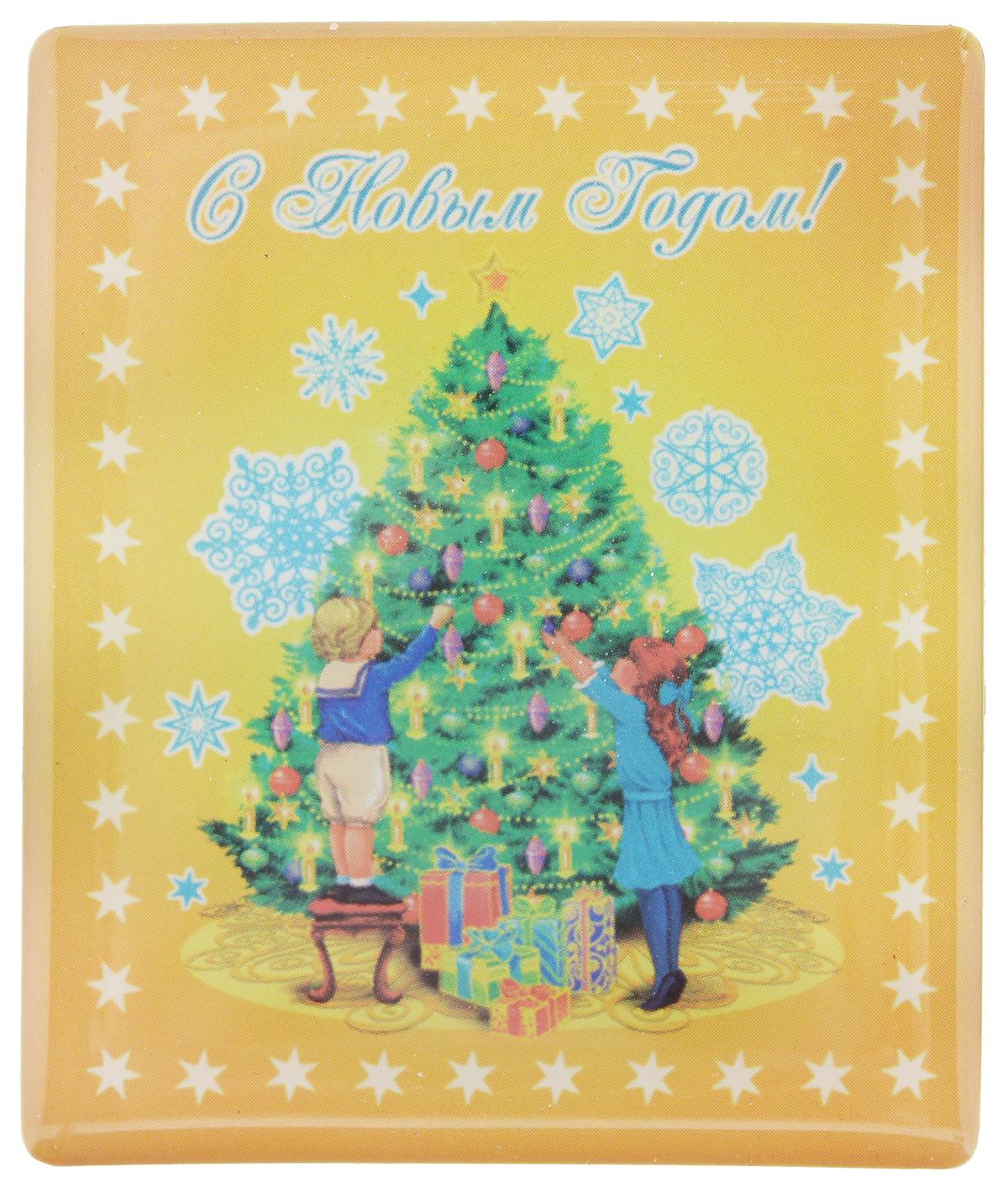 """Магнит Феникс-Презент """"Дети и елка"""", 5 x 6 см"""