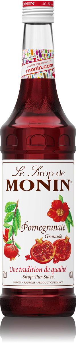 Monin Гранат сироп, 0,7 лSMONN0-000036Сироп Monin Гранат имеет освежающий сладко-кислый вкус и аромат граната. Идеально подходит для коктейлей и чая со льдом. Сиропы Monin выпускает одноименная французская марка, которая известна как лидирующий производитель алкогольных и безалкогольных сиропов в мире. В 1912 году во французском городке Бурже девятнадцатилетний предприниматель Джордж Монин основал собственную компанию, которая специализировалась на производстве вин, ликеров и сиропов. Место для завода было выбрано не случайно: город Бурже находился в непосредственной близости от крупных сельскохозяйственных районов - главных поставщиков свежих ягод и фруктов.