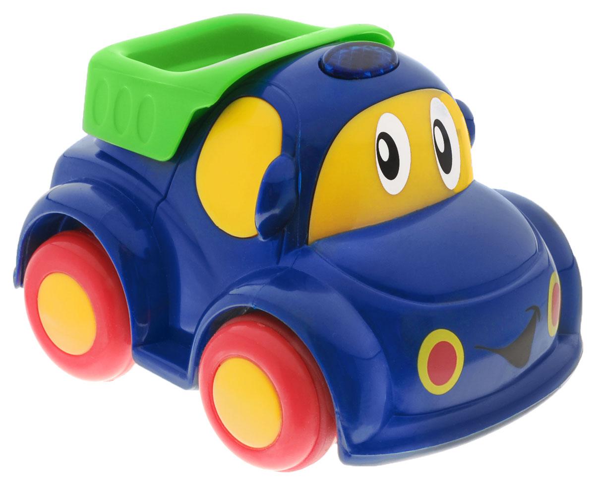 Simba Машинка на радиоуправлении цвет синий4014726_синийРадиоуправляемая машинка от Simba обязательно привлечет внимание вашего малыша. Веселая машинка с глазастой мордочкой и пультом дистанционного управления непременно понравится маленькому автолюбителю. Она изготовлена из высококачественной пластмассы и очень проста в управлении. Пульт имеет всего две кнопки: вперед и разворот. Ваш ребенок весело проведет время, играя с машинкой на пульте управления. Порадуйте своего малыша таким замечательным подарком! Для работы машинки требуются 2 батарейки типа R03 (не входят в комплект). Для работы пульта требуются 2 батарейки типа R6 (не входят в комплект).