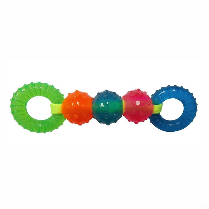 Игрушка Ziver Шарики и кольца на веревке 25 см, зелено-голубые40.ZV.116Игрушка ZIVER Шарики и кольца на веревке 25 см, зелено-голубые