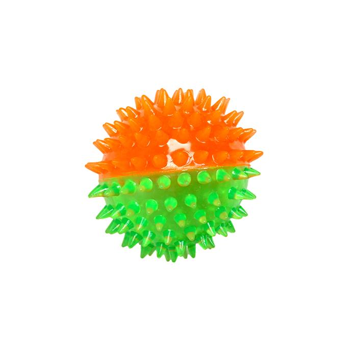 Игрушка Ziver Мяч игольчатый 7 см, зелено-оранжевый40.ZV.138Игрушка ZIVER Мяч игольчатый 7 см, зелено-оранжевый