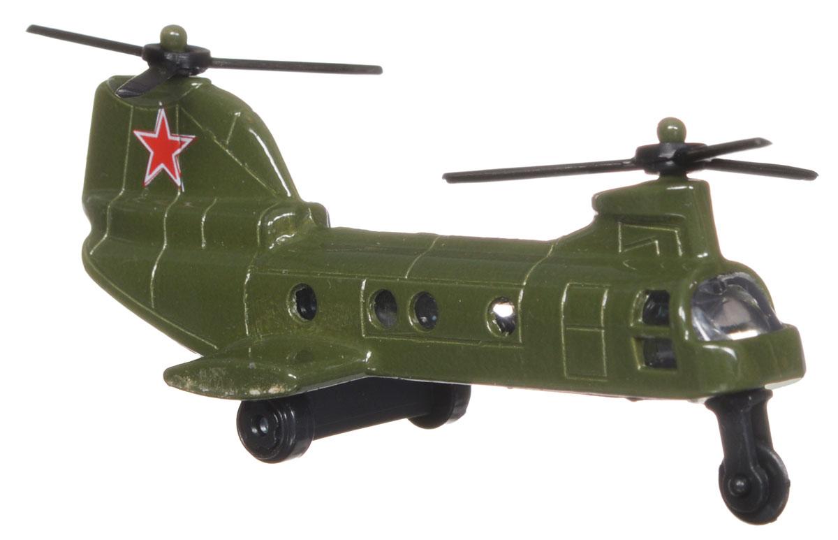 ТехноПарк Вертолет ВВС10115-RВертолет ТехноПарк ВВС обязательно понравится мальчикам, по-настоящему любящим военную технику. Корпус модели выполнен из металла с элементами из пластика, стекла изготовлены из прочного прозрачного пластика. Несущий винт вертолета вращается. Ваш ребенок часами будет играть с вертолетом, придумывая различные истории. Порадуйте его таким замечательным подарком!