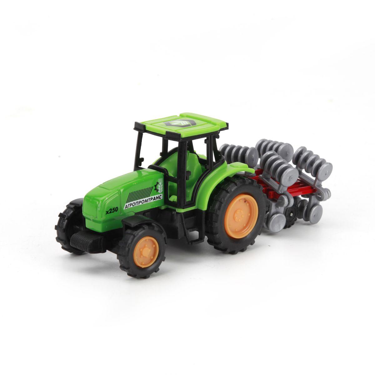 ТехноПарк Трактор с прицепом цвет зеленый ( 20219-R )