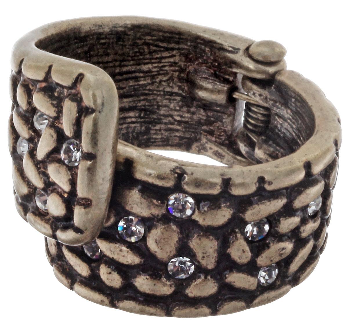 Кольцо Selena Street Fashion, цвет: золотой. 6001367060013670Стильное кольцо Selena Street Fashion, выполненное из бижутерийного сплава с гальваническим покрытием из золота, инкрустировано стразами Swarovski. Оригинальное кольцо придаст вашему образу изюминку, подчеркнет индивидуальность.