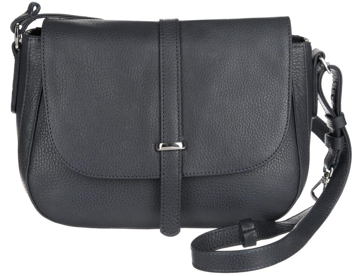 Сумка женская Afina, цвет: черный. 206206Стильная женская сумка Afina выполнена из высококачественной натуральной кожи с зернистой фактурой. Сумка имеет одно основное отделение, закрывающееся на застежку-молнию и сверху клапаном на магнитную кнопку. Внутри - прорезной карман на застежке-молнии и два накладных кармана для мобильного телефона и различных мелочей. На тыльной стороне сумки размещен прорезной карман на застежке-молнии. Изделие оснащено плечевым ремнем регулируемой длины. Модная сумочка станет финальным штрихом в создании вашего неповторимого образа.