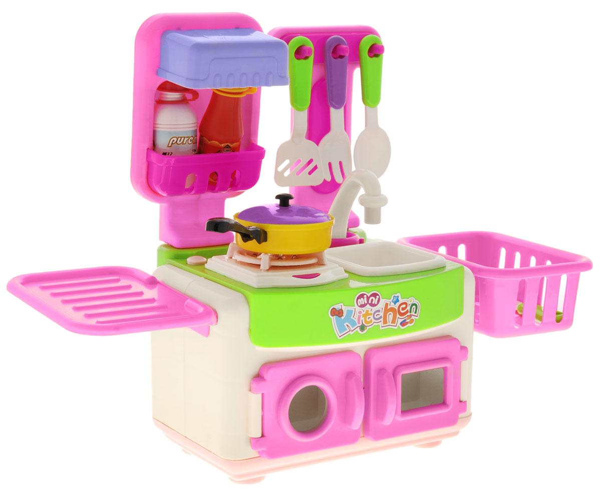 Zhorya Игровой набор Моя кухняХ75732Яркий игровой набор Моя кухня предназначен для-сюжетно ролевых игр. Известно, что сюжетно-ролевые игры не только увлекательны, но и весьма познавательны для ребенка, они способствуют развитию воображения, логики и понимания причинно-следственной связи. Детская кухня Zhorya со световыми и звуковыми эффектами станет отличным подарком для вашей любимой дочурки и даст ей возможность ощутить себя настоящей хозяюшкой, ведь девочки так любят подражать своим мамам. Модель выполнена в виде игрового центра, стилизованного под настоящую кухню: имеется мойка, шкафчики, посудка, продукты. Все элементы и детали набора сделаны из нетоксичных материалов, поэтому полностью безопасны для ребенка. Рекомендовано для детей в возрасте от 3 лет.