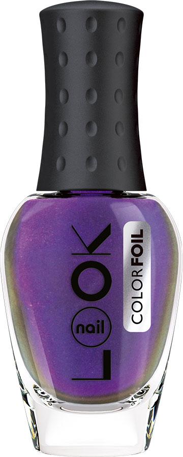 nailLOOK Лак для ногтей Color Foil, фиолетовый аметист, 8,5 мл