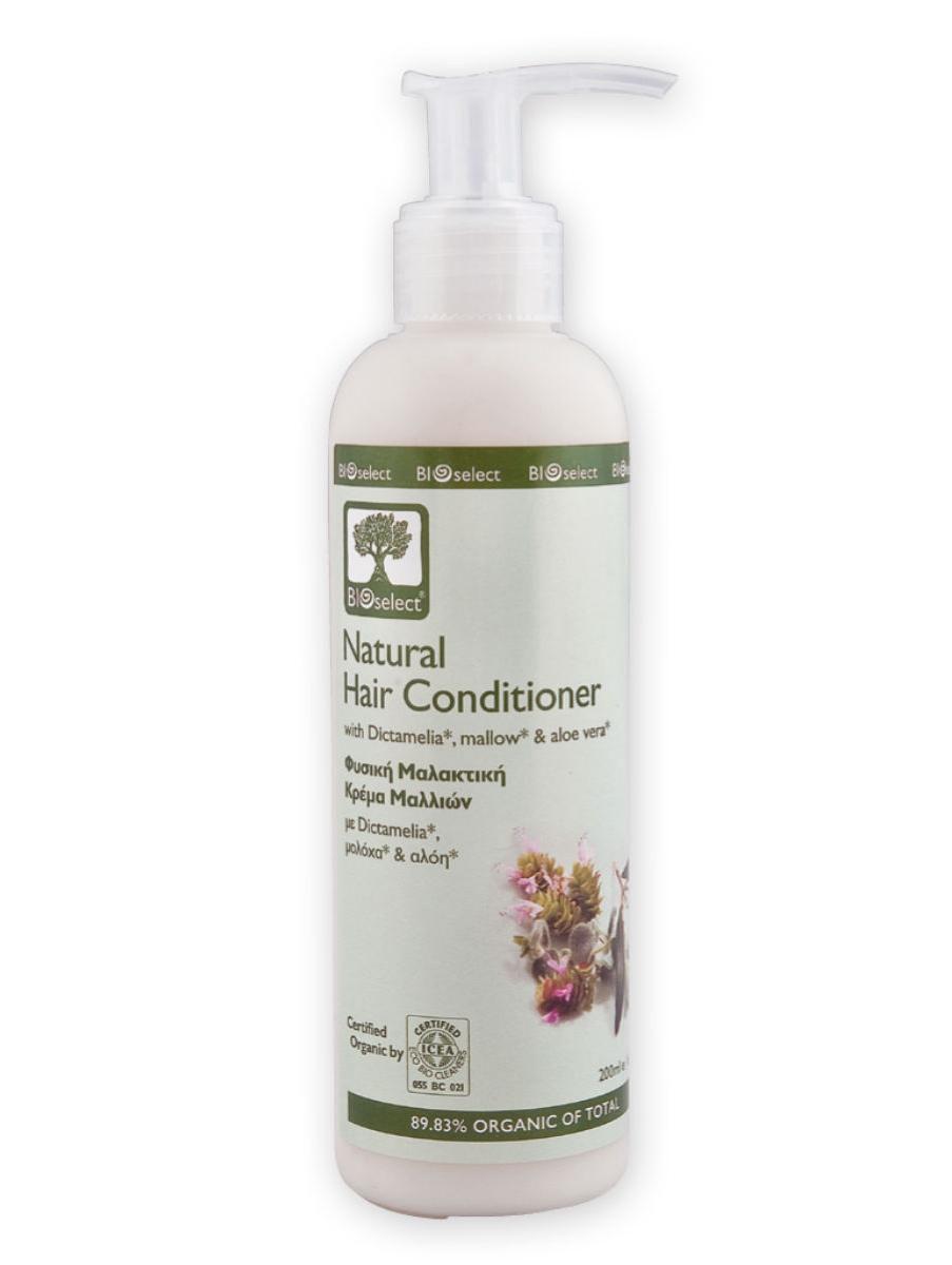 BIOselect Природный натуральный кондиционер для волос, 200 мл5200306431279Увлажняющий кондиционер для сухих, поврежденных и окрашенных волос. Оливковое масло, обогащенное липидами, интенсивно питает и увлажняет кожу. Экстракт листьев мальвы- растение, знаменитое своими терапевтическими свойствами и обогащенное полисахаридами и флавоноидами, создает защитную пленку по всей длине волос, что в свою очередь обеспечивает питание волос и облегчает процесс расчесывания. Алоэ, органическое эфирное масло лавра (Крит/сертифицирован) и вода шалфея восстанавливают и омолаживают волосы, придавая им красивый блеск.