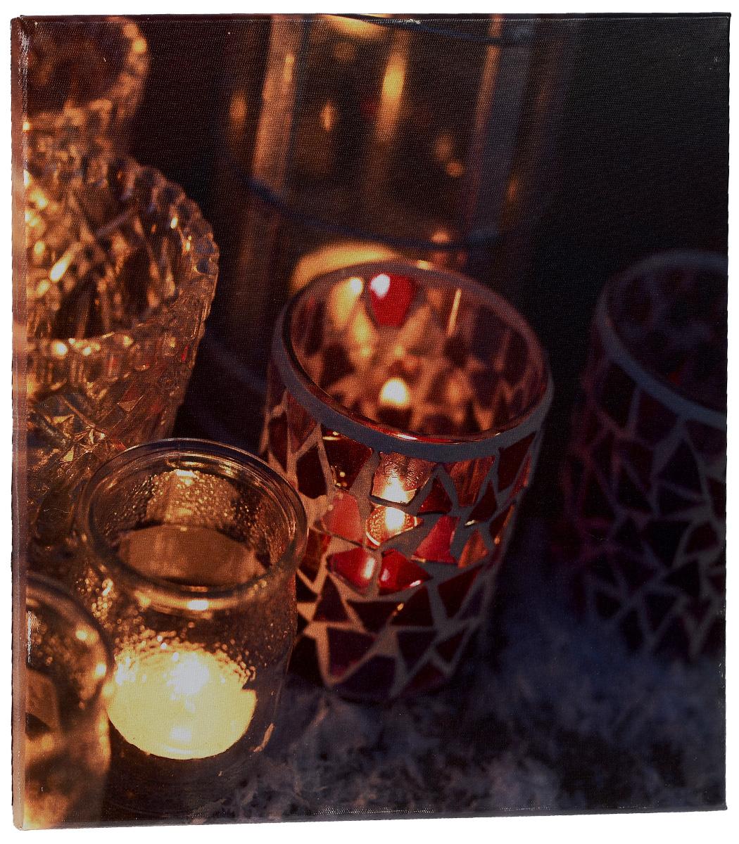 Картина MTH Свечи, со светодиодами, 40 х 40 смled4040-03Картина MTH Свечи выполнена на основе из МДФ, обтянутой холстом. Изделие оснащено светодиодами. Их теплый мерцающий в темноте свет оживит ваш дом и добавит ему уюта. На картине изображены свечи в декоративных подсвечниках. Благодаря светодиодной подсветке создается ощущение, что теплый свет, исходящий от свечей, действительно может согревать. С оборотной стороны картина оснащена специальным отверстием для подвешивания на стену. Необычная картина придаст интерьеру невероятного шарма и оригинальности. Рисунок успокаивает нервную систему, помогая расслабиться и отвлечься от повседневных забот. Подсветка работает от 2 батареек типа АА напряжением 1,5V (в комплект не входят).