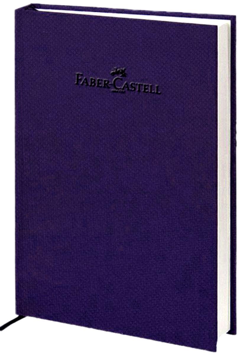 """Faber-Castell Блокнот, серия """"Natural"""", формат А6, 100 стр. темно-синий, без разметки 400711"""