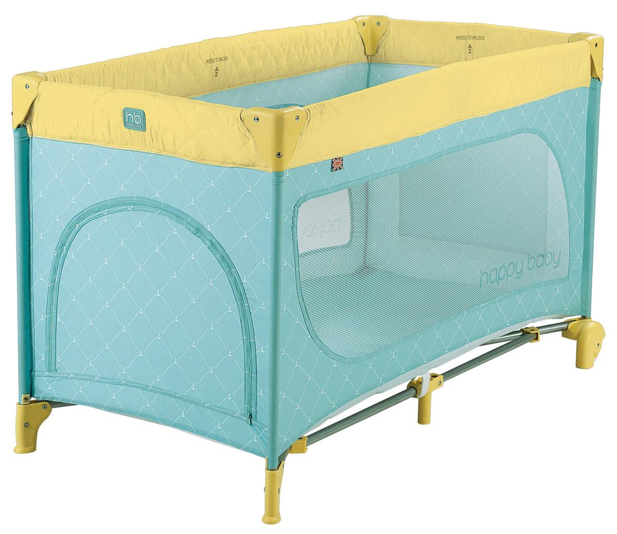 Happy Baby Кровать-манеж Martin Blue