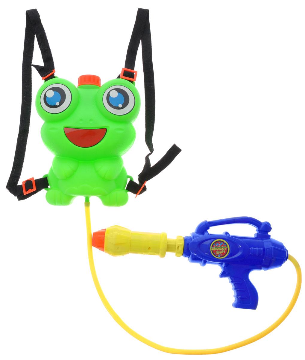 Bebelot Водный автомат Водомет с ранцем-лягушонком цвет зеленый синий желтый