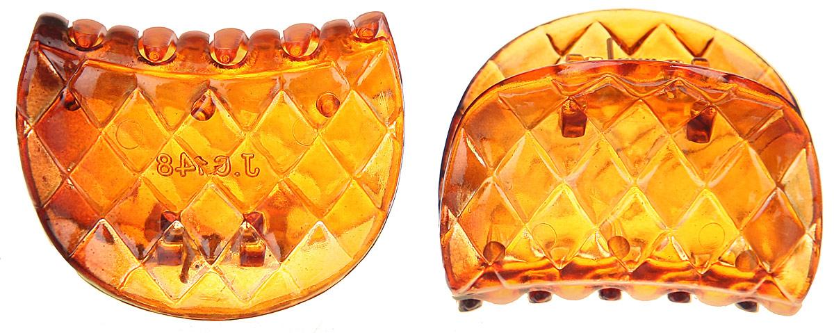 Набор заколок-крабов Mitya Veselkov, цвет: коричневый, 2 шт. KRAB1